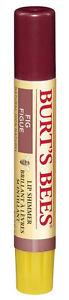 Burt's Bees LIP SHIMMER Deep Burgundy Red Lipbalm 100% Natural 2.6g FIG