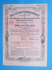 200 Goldmark 8% Central-Goldpfandbrief - 1927