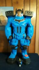 "Imaginext Batbot DC Super Xtreme Batman Robot Works 28"" W/ Batman Figure & Bike"