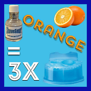 3 Orange Refills Compatible with Braun Clean & Renew Cartridges Systems