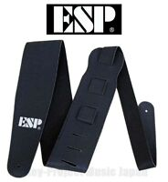 ESP ES-S-17W Black Guitar & Bass Strap Synthetic Leather New w/Tracking# From JP