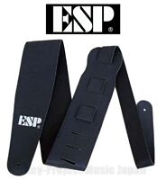 ESP ES-S-17W Black Guitar & Bass Strap Synthetic Leather New w/Tracking No.