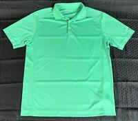 Men's Nike Golf Tour Performance Dri Fit Green Polo Shirt Size Large EUC