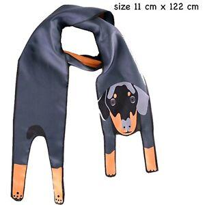 Dog Scarf canine dachshund wiener pet scarves present gift sausage Tie Wrap