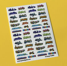 Model Railway GRAFFITI stickers decals N Gauge ideal for coaches, buildings