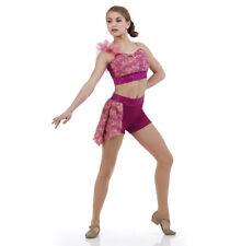 Child Medium Pink Contemporary Escape Ballet Lyrical Costume Dance Sequin Acro