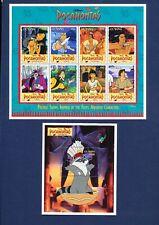 GUYANA DISNEY - Sc 2985-2990+ - VFMNH S/S - Pocahontas Indian - 1995 - 4 scans