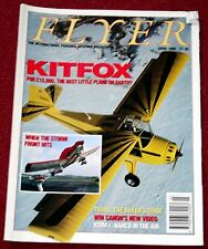 Flyer 1990 April Kitfox,Robinson R22,Cessna 340,Vultee L-13