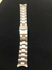 SEIKO SOLID STAINLESS STEEL WATCH STRAP/BAND WITH CURVED END LUGS 20mm