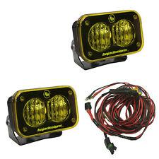 Baja Designs ATV S2 Pro Pair Wide Cornering LED Lights Amber