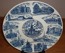 """Bloomington Monroe IN Sesquicentennial Collector's Plate 10"""" blue/white"""