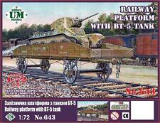 UM Military Technics 643 Railway platform with BT-5 tank 1/72