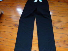 Ladies Black Wide with stretch Regular Leg Pants
