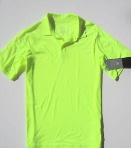 Nike Boy Neon Green Size XL 18 20 Polo shirt Dry fit Golf short sleeve Sport New