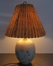 Antike Kaestner Saxonia Porzellan Tischlampe gr. Tisch Leuchte Art Deco