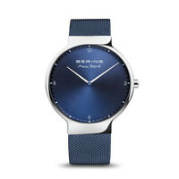 Bering Time Max René Silver Stainless Steel and Blue Dial Men's Watch 15540-307