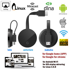 Google Chromecast 3 Chrome Cast 1080p HD Media TV Streamer HDMI WiFi Wireles US