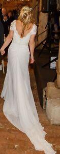 Winter Wedding Dress Sottero and Midgley Lyla Ivory Lace Traditional Size 8