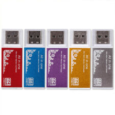 For Micro SD TF M2  MS All in 1 USB 2.0 Multi Memory Card Reader Gold Hot Cool