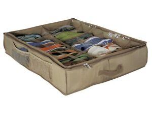 Richards Homewares Underbed Shoe Storage 12cell Chest Organizer W/ Cedar Inserts