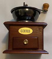 Vintage Wooden Hand Coffee Grinder