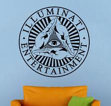 Illuminati Sign Wall Decal All Seeing Eye Vinyl Sticker Wall Murals Home Decor 1