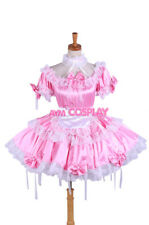 lockable Sissy maid satin dress Uniform cosplay costume Tailor-made[G1620]