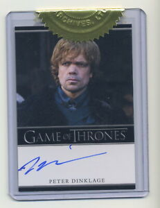 Peter Dinklage Tyrion Lannister Game of Thrones Season 1 Autograph Trading Card