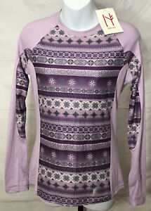 Neve Avery Crewneck Base Layer Top Women's Size Small Lilac NWT