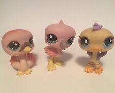 Littlest Pet Shop LPS Authentic Lot of Birds FLAMINGO OSTRICH DUCK Oh So Cute!