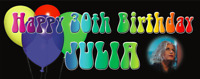 Personalised Birthday Party Banner 18th/21st/30th/40th/50th Coloured Balloons