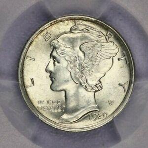 1920-P 1920 Mercury Dime PCGS MS63 FB beautiful original coin!