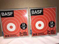2 Tonbänder BASF Magnettonbänder im Schuber 15 cm Spulen OVO (NEU)  (439)