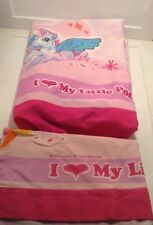 I Love My Little Pony Twin Size Flat Sheet & pillowcase Pink