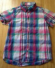 H&M Kids L.O.G.G Multi-Color Button Down Shirt. Short Slve. Pre-owned
