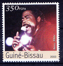 Guine Bissau MNH, Barry White, 1st singer who played disco Music -NM3