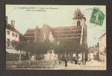 SAINT-JEAN-de-LOSNE (21) EGLISE & MONUMENT animé en 1909