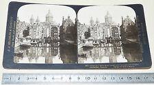 PHOTO STEREOSCOPIQUE 1907 JJ KILLELEA AMSTERDAM HOLLANDE VOORBURGVAL NEDERLAND