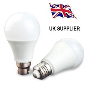 A60 E27 - B22 6/10/12/15w GLS LED GLOBE LIGHT BULBS WARM & COOL WHITE A+ RATING