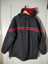 Nike Reversible 2 In 1 Jacket Hood Vintage Dark Grey / Gym Red Mens Sz XL - XXL