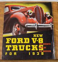 1938 Vehicle Brochure///FORD V-8 TRUCKS