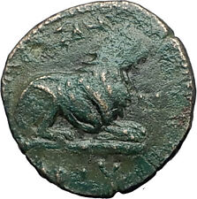 KASSANDER 316BC Pella Macedonia HERCULES LION Original Ancient Greek Coin i59742