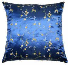 "x4 New Quality ROYAL BLUE ❤️ Oriental Cushion Covers 18"" x 18"" ❤️ 50% FREE P+P"
