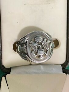 US Army/Air Force Pilot Crew Members Sterling Silver Ring