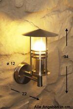 Edelstahl Aussenleuchte Modern Aussenlampe Glas Hoflampe Wandlampe Wandleuchte