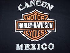 Harley-Davidson Motorcycles Cancun Mexico XL T-Shirt Black/Orange Short Sleeve