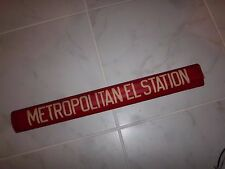 1958 BROOKLYN NY ROLL SIGN NYCTA METROPOLITAN ELEVATED STATION NYC BUS SIGN ART
