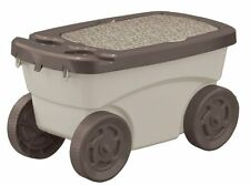 New ! Suncast Garden Scooter Storage Rolling Seat Portable Patio Outdoor