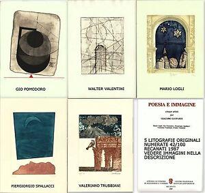 CINQUE ARTISTI PER G. LEOPARDI VALENTINI POMODORO TRUBBIANI LOGLI SPALLACCI 1987