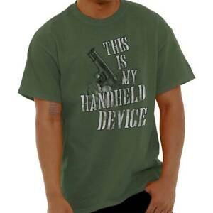 Funny Gun Sarcastic Attitude 2nd Amendment Womens or Mens Crewneck T Shirt Tee